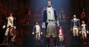 Hamilton production image used under terms of fair use.